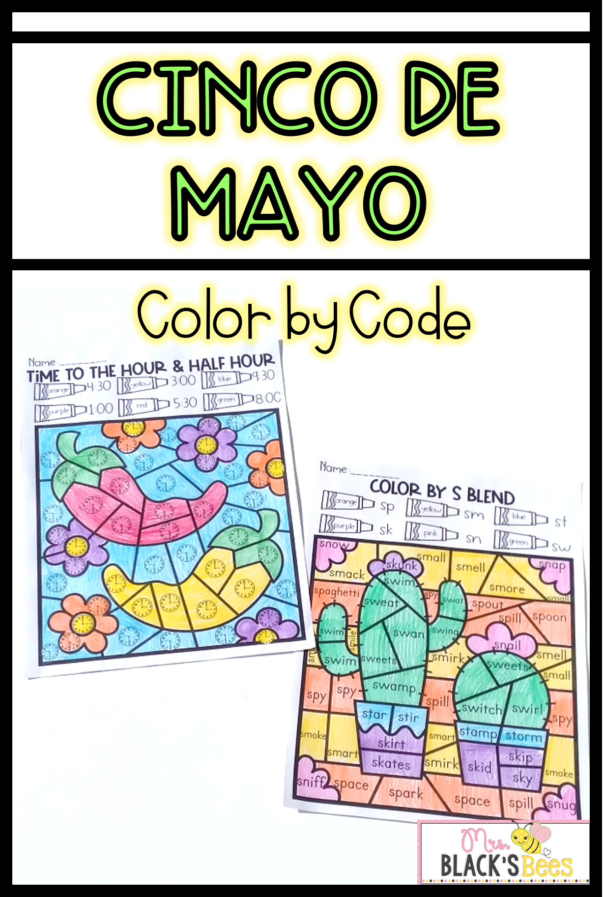 Cinco De Mayo Color By Code