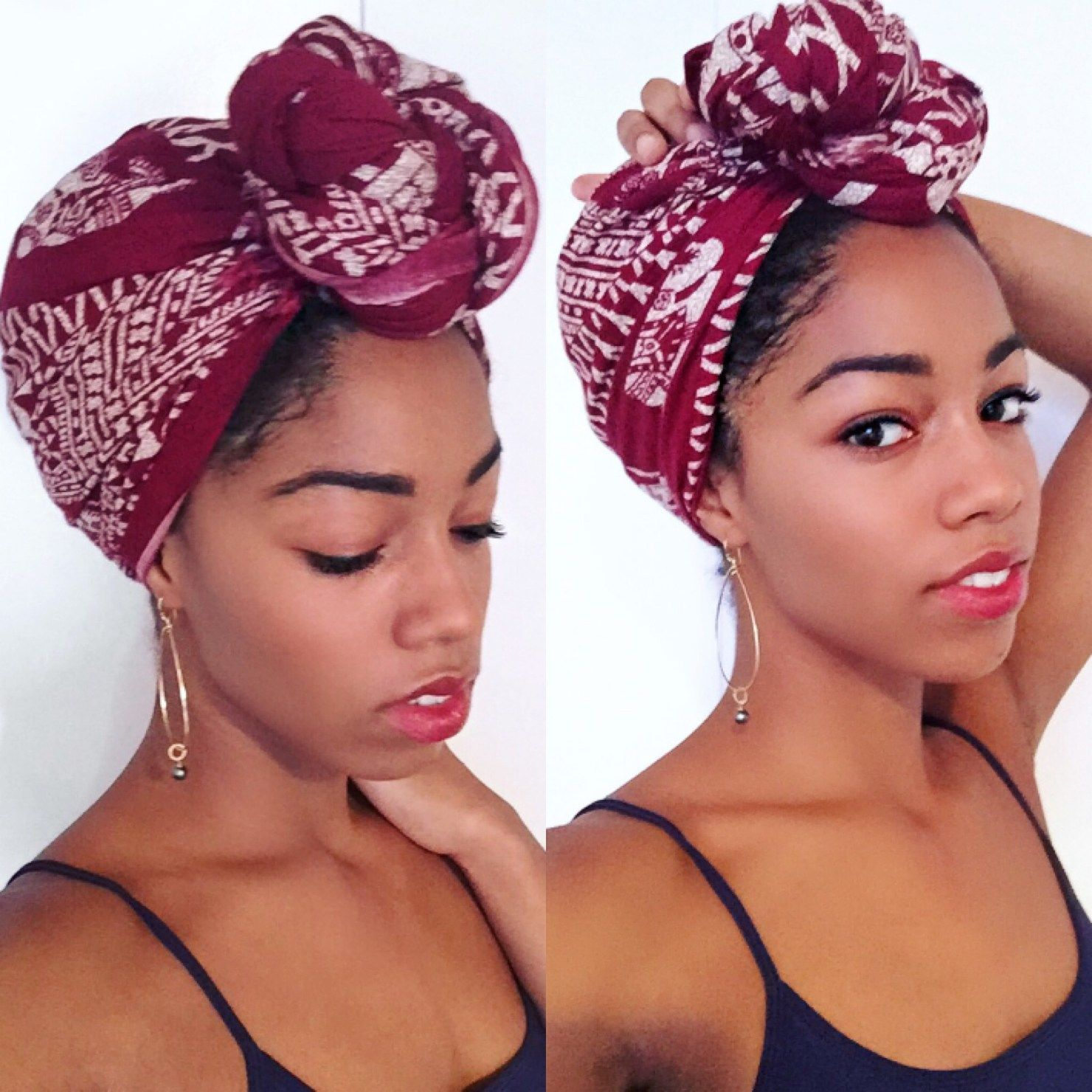 Getting Into Headwraps Natural Hair Styles Scarf Hairstyles