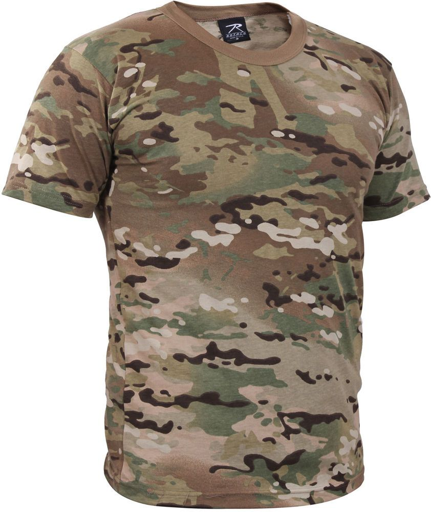 Multiple Size Airsoft Gear Camouflage Short Sleeve T-Shirt Woodland Digital Camo