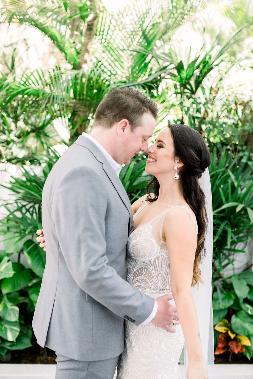 Mexican Destination Wedding With Green, Blush & Gold Tones