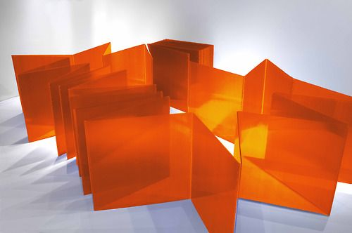 Marta Chilindron - Cube 48 Orange, 2014 Courtesy of Marta Chilindron and Cecilia de Torres, New York