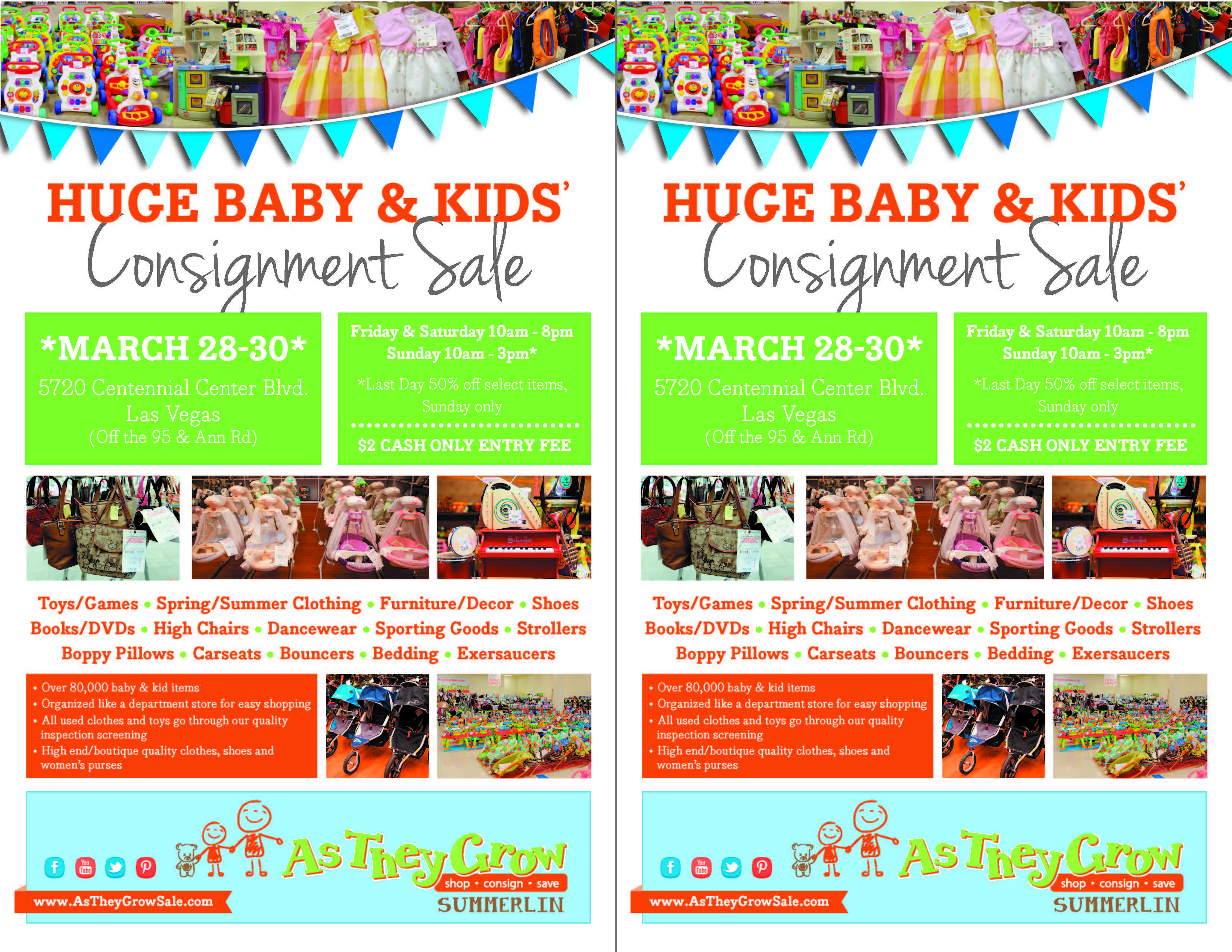 half page printable flyers for as they grow kids consignment half page printable flyers for as they grow kids consignment s summerlin spring 2014