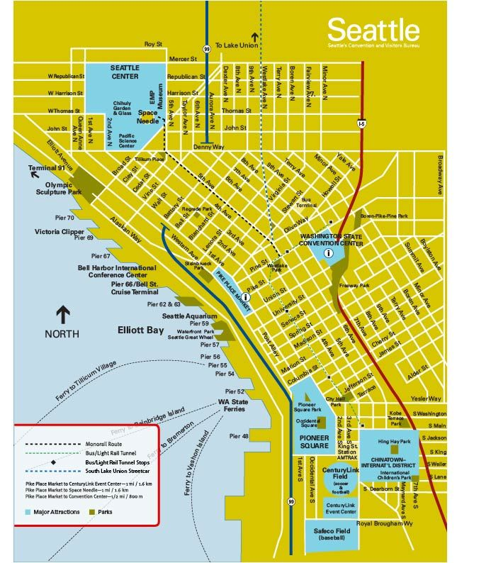 Map downtown seattle | Travel | Pinterest | Downtown seattle and Seattle
