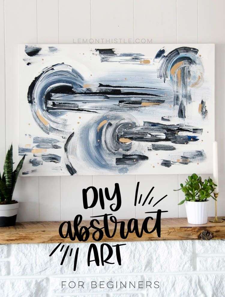 Diy abstract painting beginner tutorial large scale art scale diy abstract painting on canvas a beginner tutorial i love this large solutioingenieria Image collections