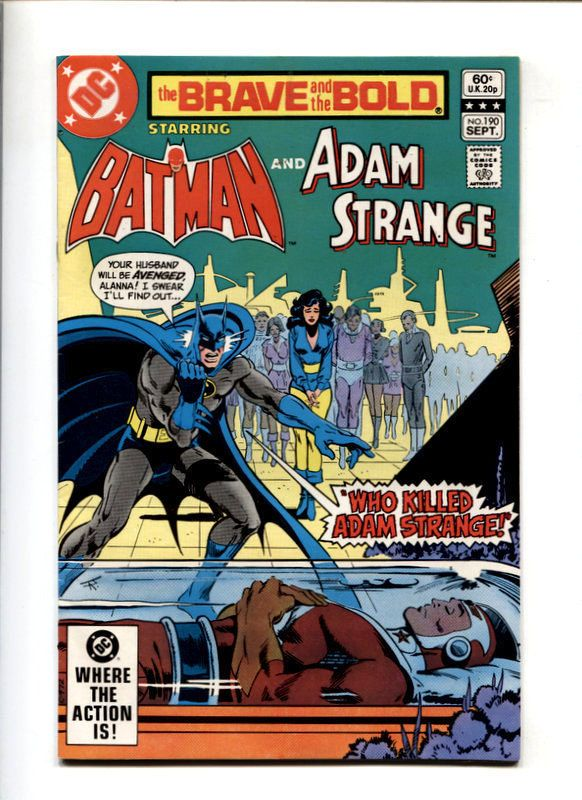 brave and the bold #190 #Batman and adam strange--dc #Comics 1982 from $1.99