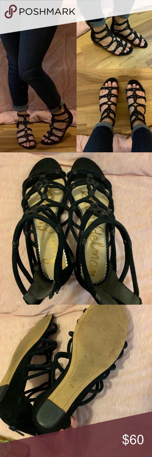 c3da82d377d Same Edelman Daryn gladiator sandal 7.5 leather Same Edelman Daryn  gladiator sandal 7.5 leather worn a