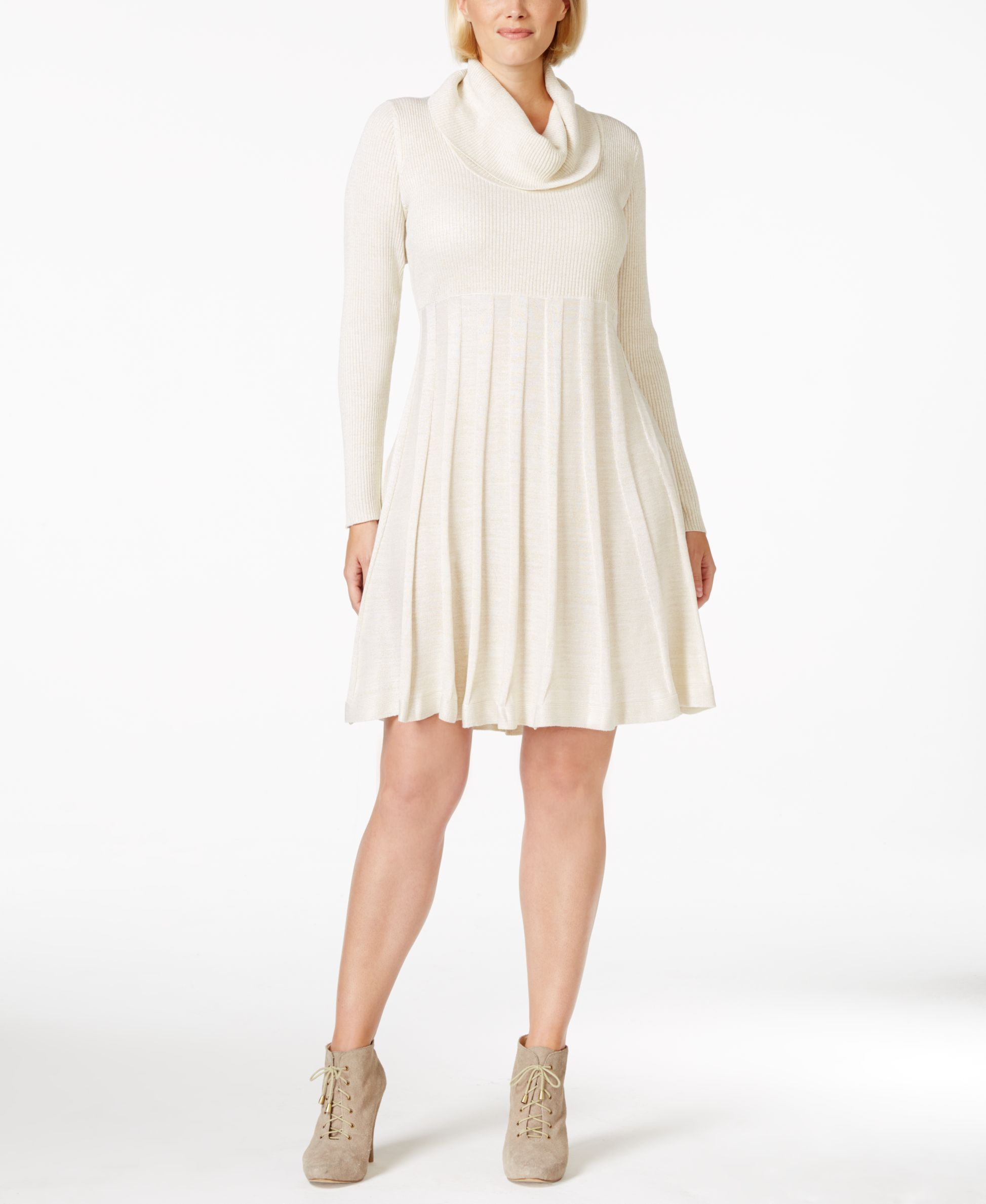 Calvin Klein Plus Size Cowl-Neck Sweater Dress | Products ...