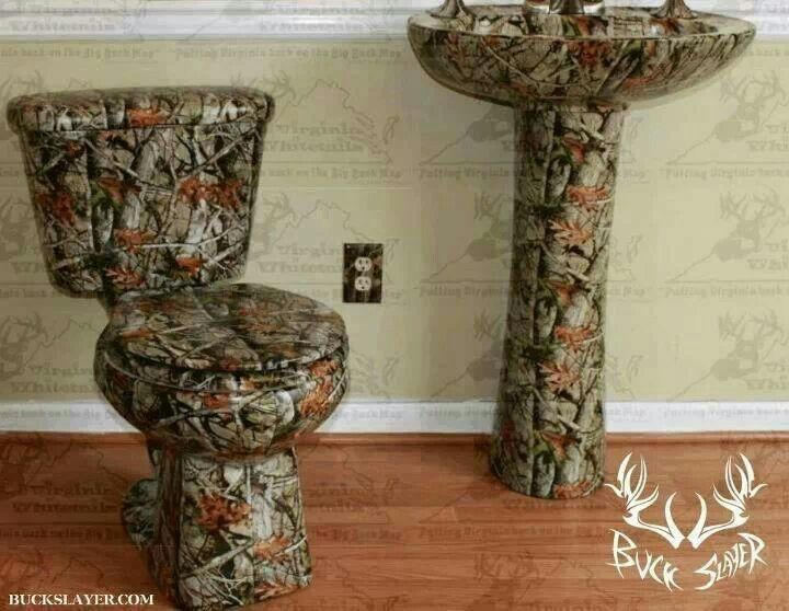 It S A Camo Toilet Now My Boys Would Have A Reason To Miss The Toilet Cause They Wouldn T With Images Camo Home Decor Camo Bathroom Decor Rustic Master Bathroom