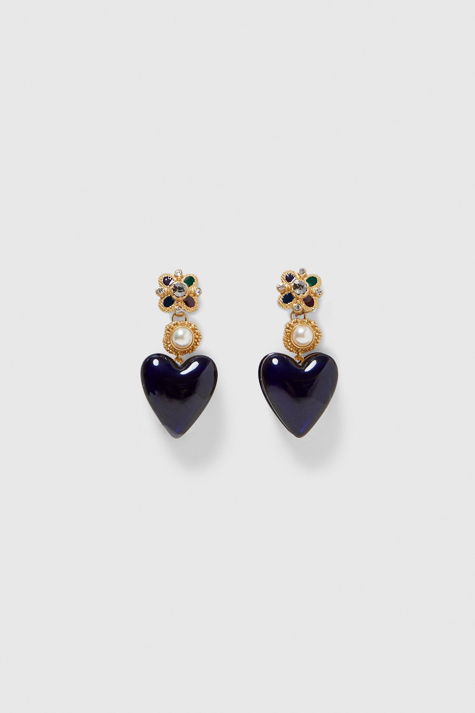 d3c0cfe45 Image 1 of BEAD HEART EARRINGS from Zara | Accessories in 2019 ...