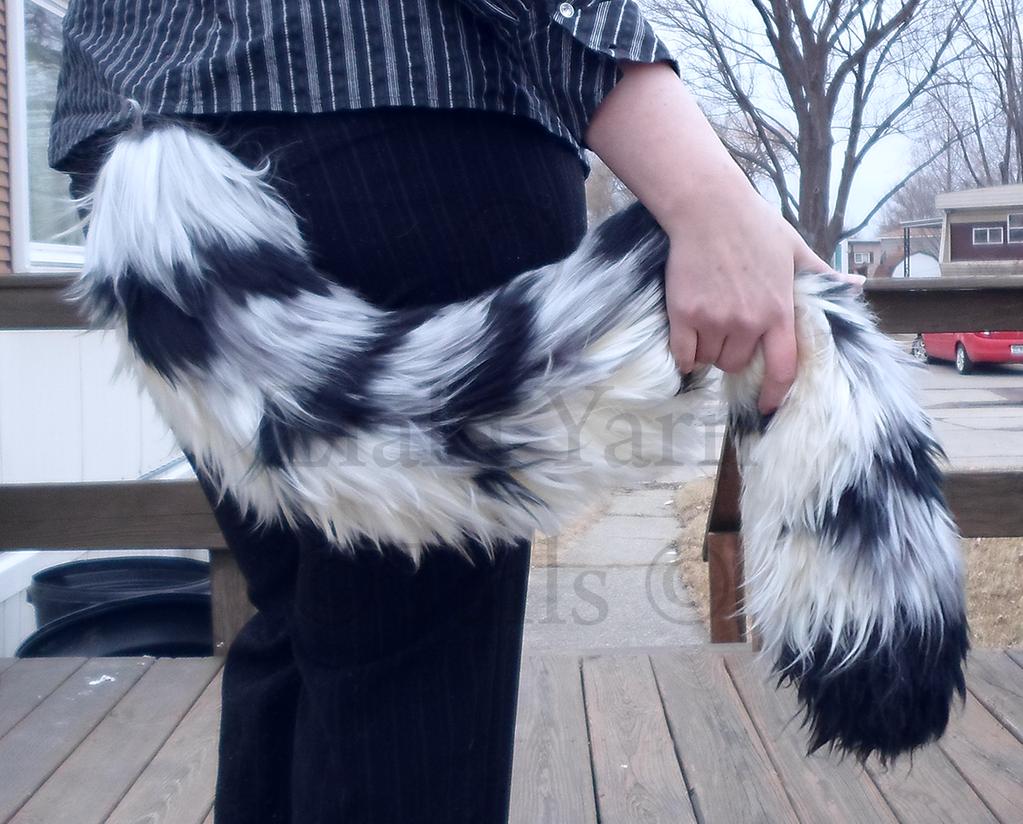 Silver Tiger Yarn Tail by serenitymoonwolf  342fa6c104