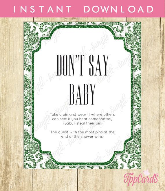 Baby Shower Clothes Pin Game Simple Don't Say Baby Game Baby Shower Games Printable Damask Baby Shower Inspiration Design