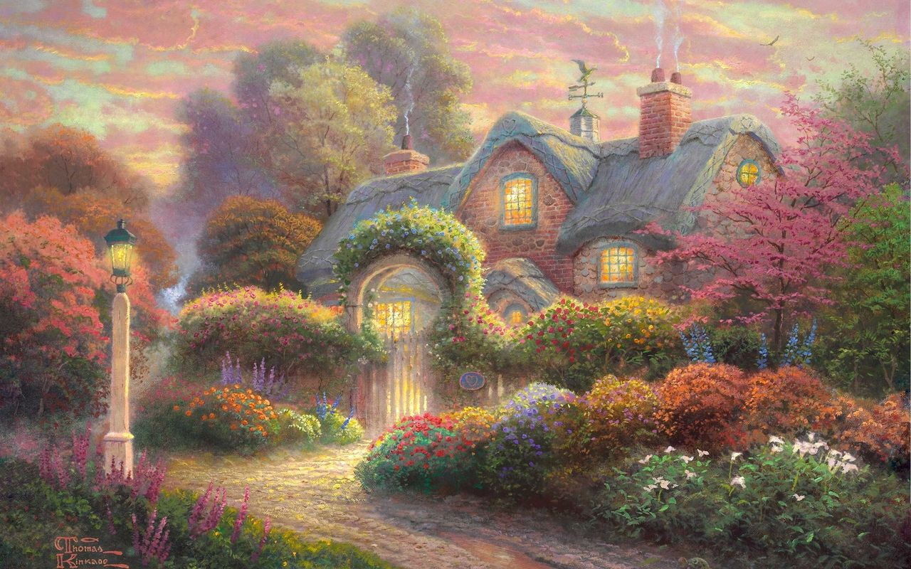 Free By Thomas Kinkade Wallpaper - Download The Free By Thomas Kinkade Wallpaper - Download Free Screensavers, Free Wallpapers, Play Free Games and Send ...