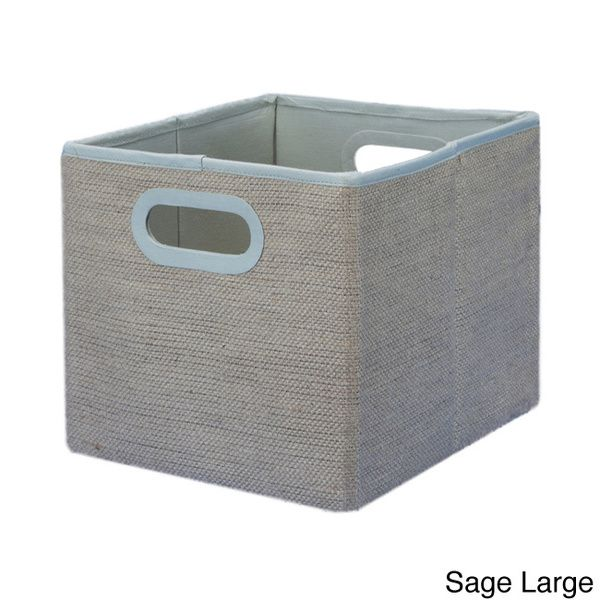 Collapsible Jute Storage Box  sc 1 st  Pinterest & Pellon Collapsible Jute Storage Box (JBoxCreme Small) White Size S ...