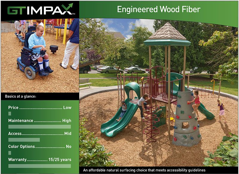 Engineered Wood Fiber Playground Surface All Ages All