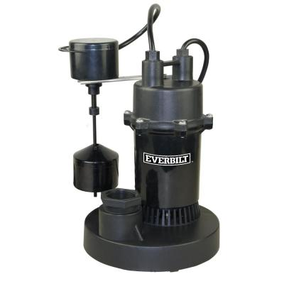 Everbilt 1 3 Hp Submersible Sump Pump With Vertical Sba033v1