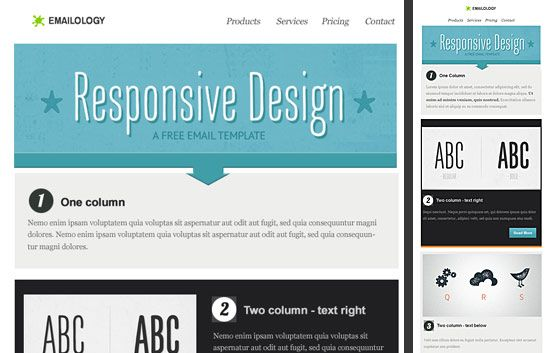 Emailology: Free Responsive Email Template - Part I | Web design ...
