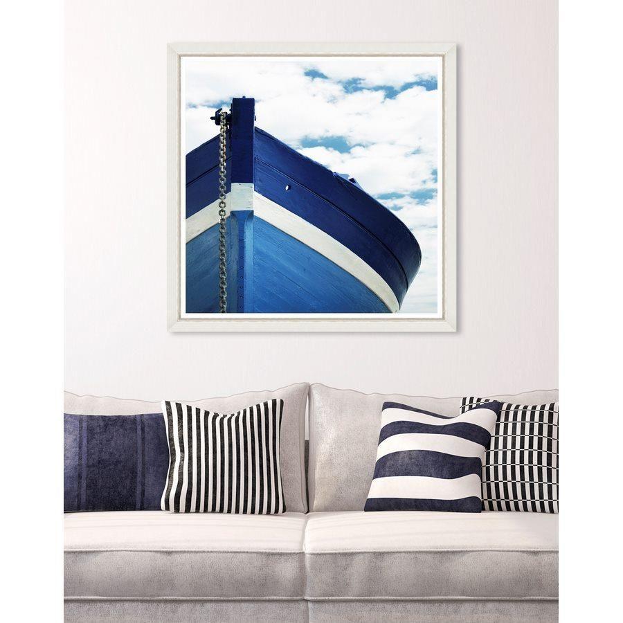 Quadro con barca blu e bianca arredomediterraneo (con
