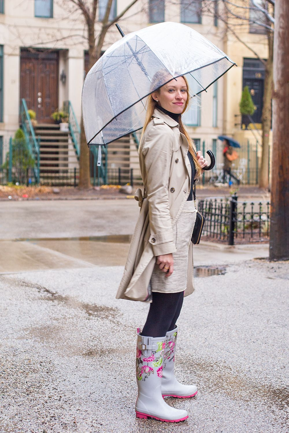 f38d9b6d1 rainy day outfit trench coat outfit wellies outfit rain boots outfit joules  boots bubble umbrella