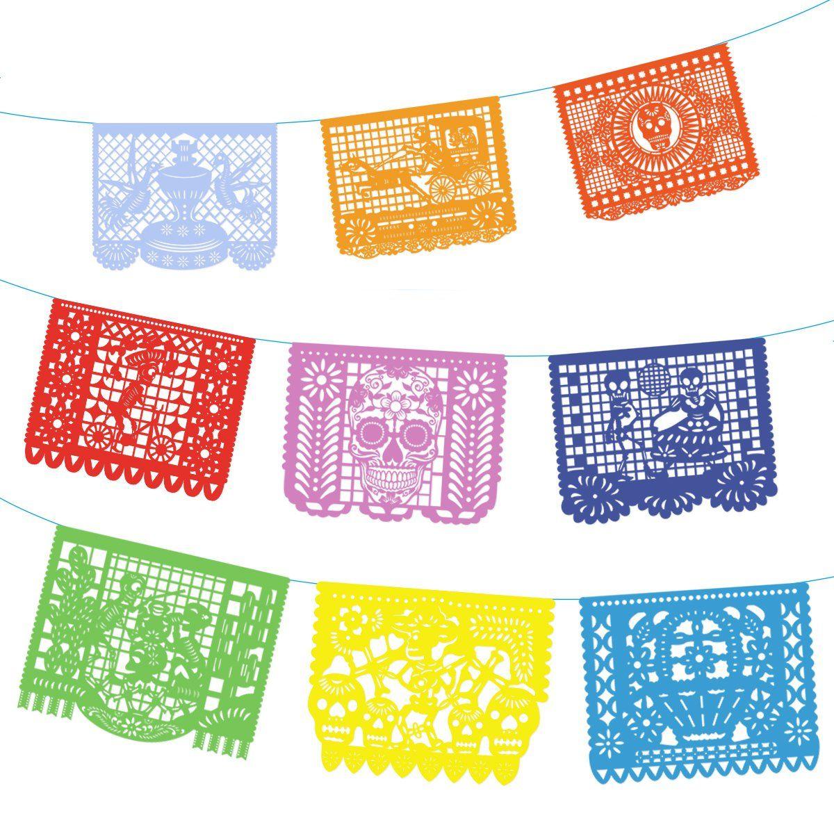 Fiesta Banners For Invite Papel Picado Mexicano Fondo Halloween Manualidades