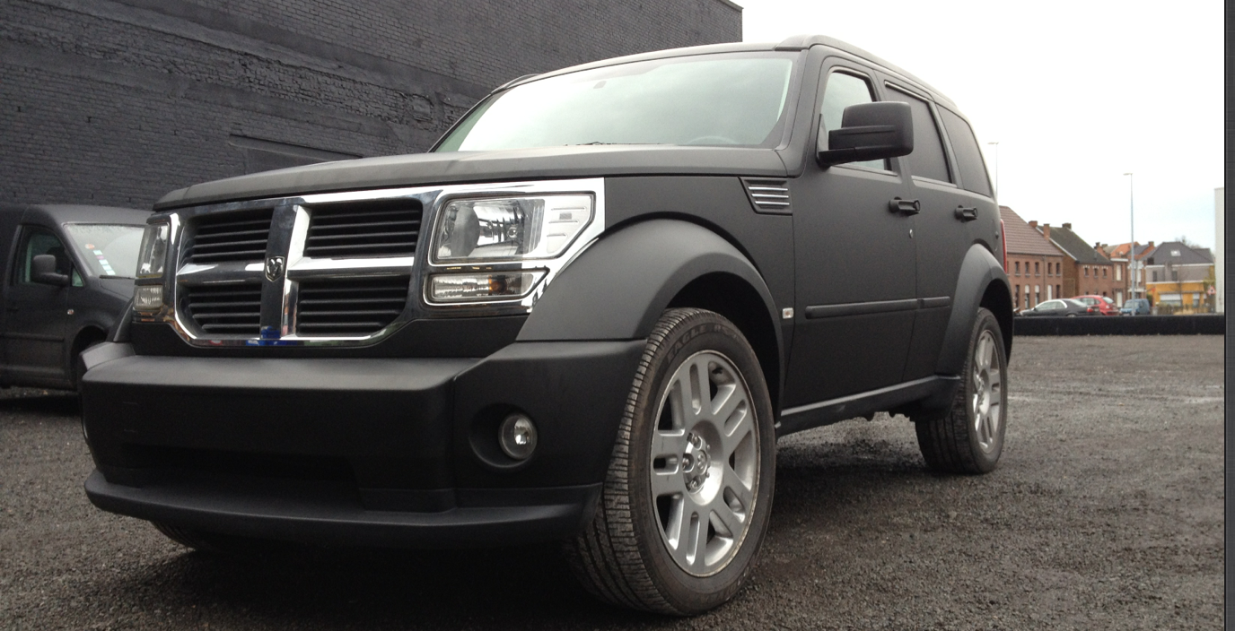Car Wrap Dodge Nitro In Matt Black