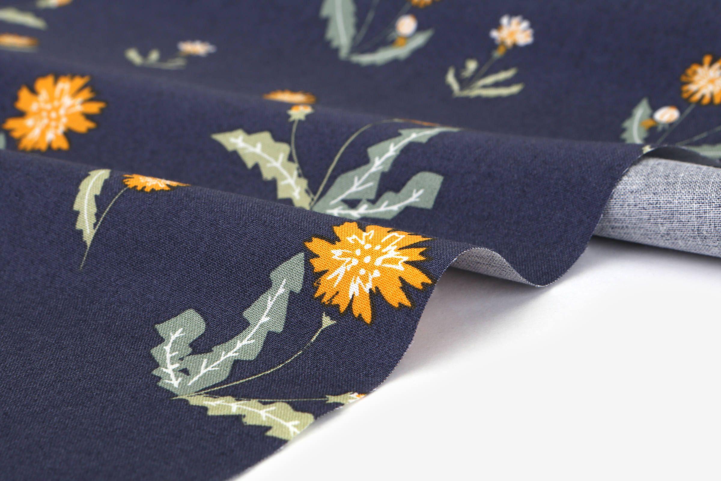 1 2 Yard 100 Cotton Dandelion 42 Wide Dailylike Canada Fabric Canada Flower Patterns Fabric Design