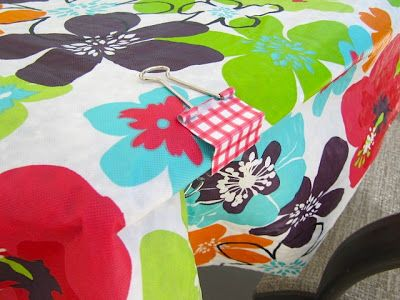 Use Binder Clips To Hold Down Outdoor Table Cloths.