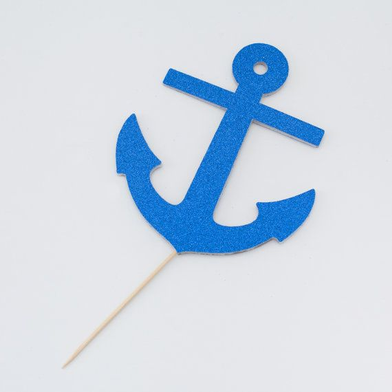 Nautical Anchor Cake Topper by theSprinkleSisters on Etsy