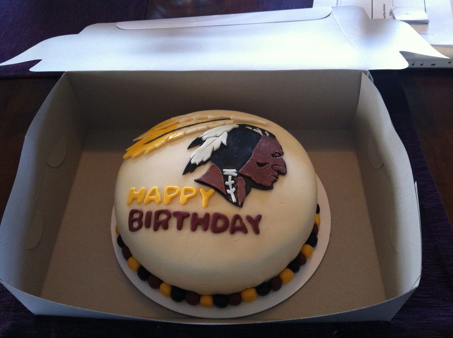 Redskin Birthday Cake Clipart