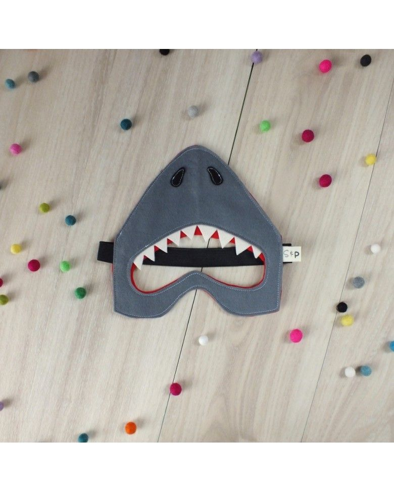struckla peach felt shark mask basteln pinterest. Black Bedroom Furniture Sets. Home Design Ideas