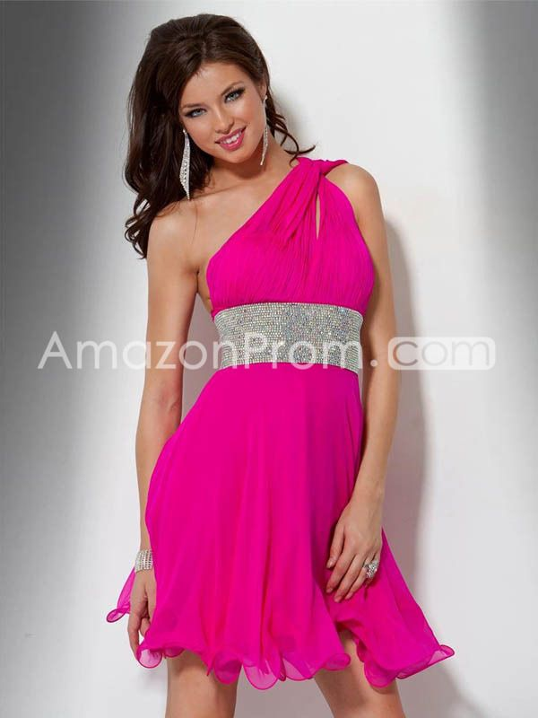 A-line Sweetheart Sleeveless Short/Mini Chiffon Homecoming Dresses ...