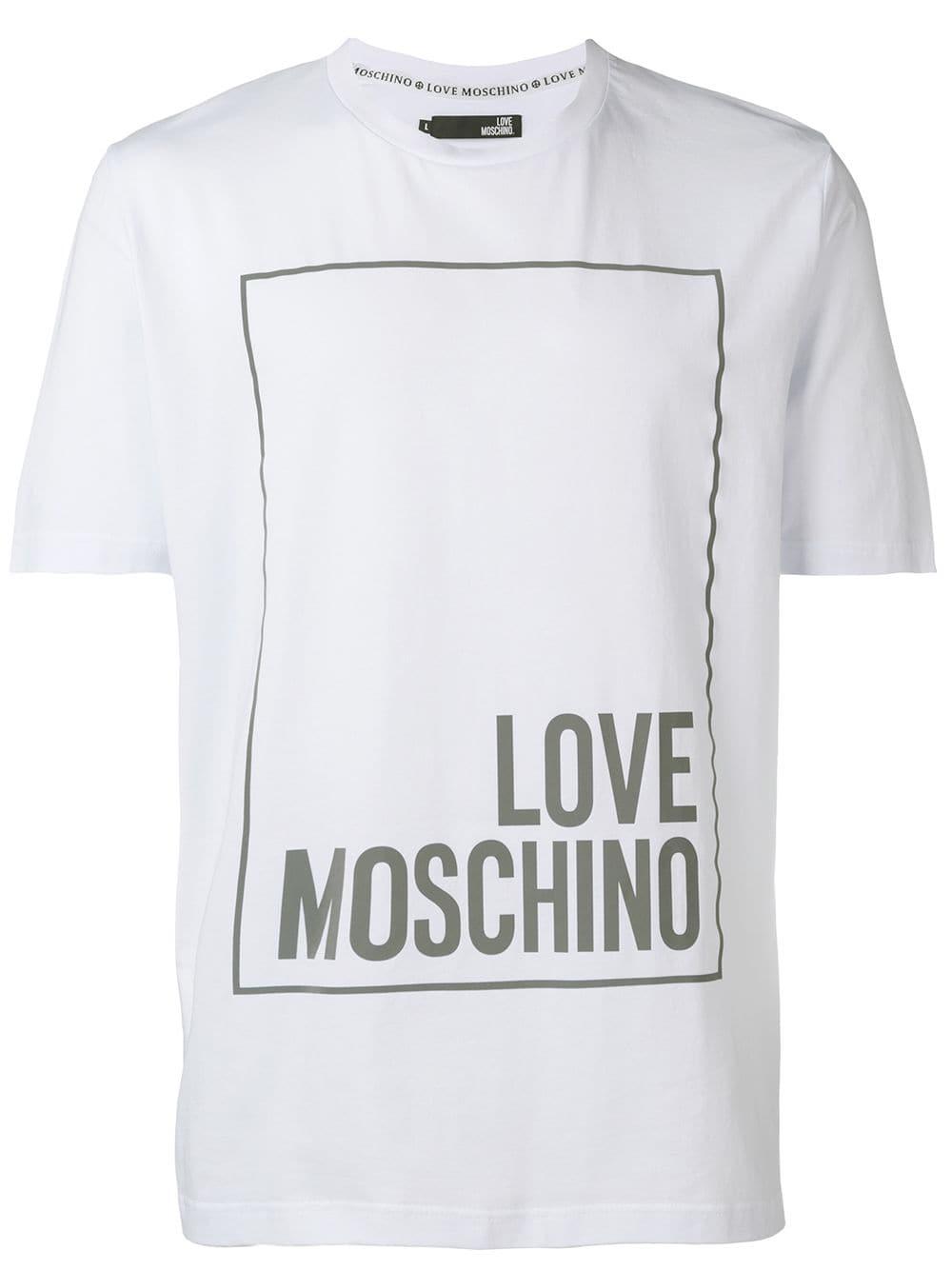 Love Moschino Classic Logo T Shirt White Tshirt Logo Classic Logo Moschino