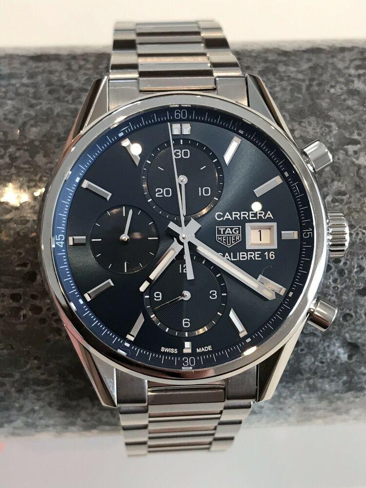 wholesale dealer 53498 01ae4 Tag Heuer Carrera Blue Dial Men's Chronograph Watch CBK2112 ...