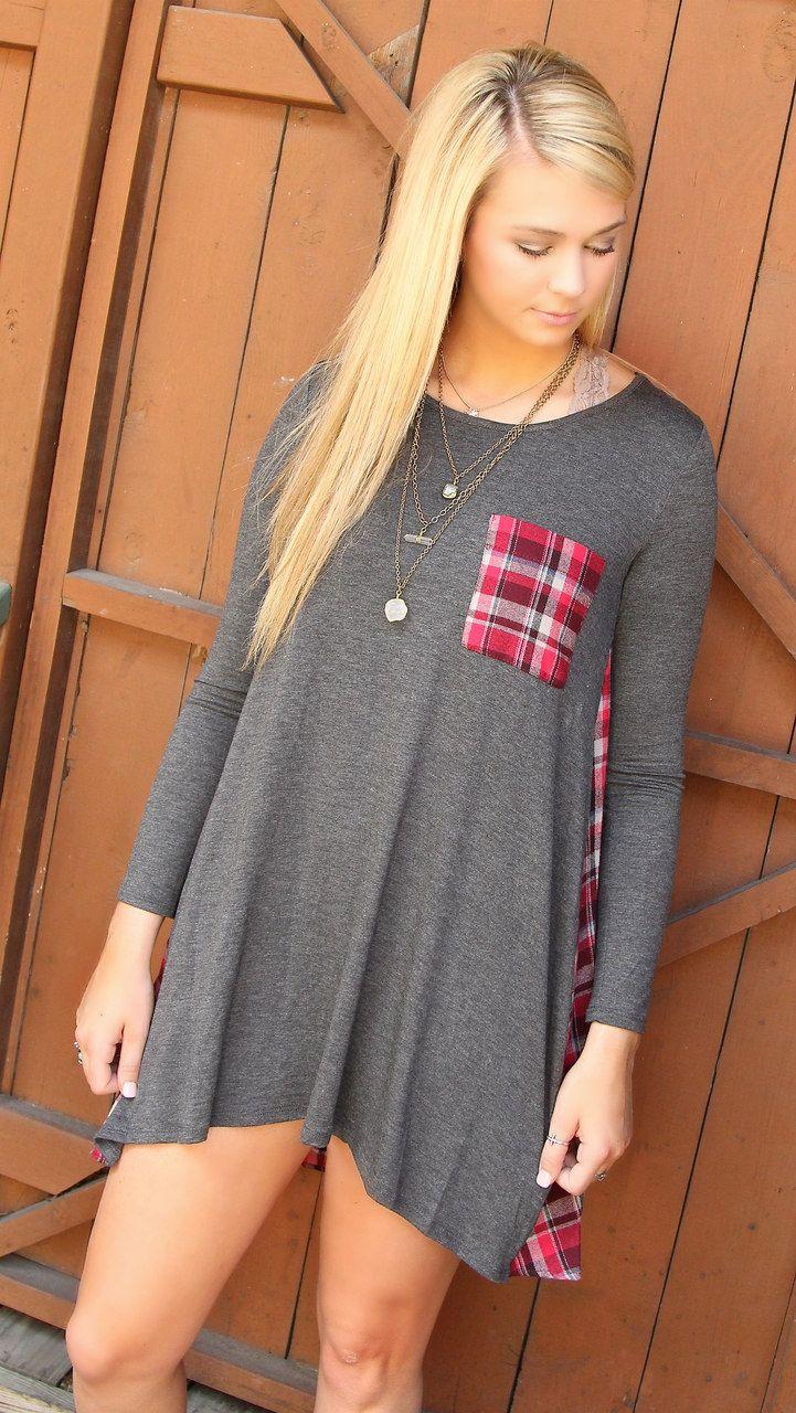 Plaid Back Dress - Southern Jewlz Online Store