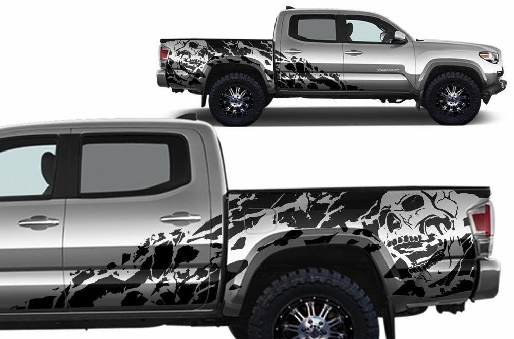 Vinyl Decal Quot Nightmare Quot Wrap Kit For 2016 Toyota Tacoma Matte Black Fits 4 Door Short Bed Models Only Toyota Tacoma Toyota Tacoma Trd Tacoma Trd
