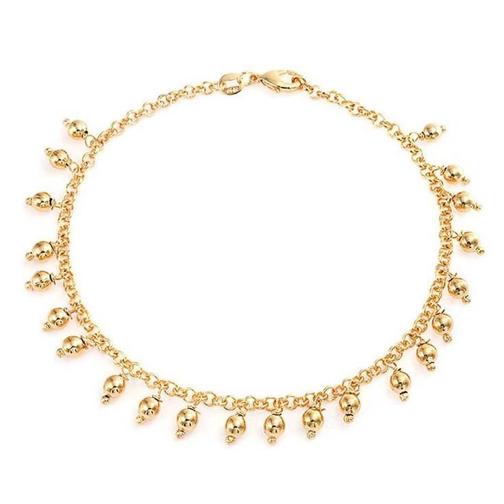 Bling Jewelry Gold Filled Lucky Elephant Patriotic Ankle Bracelet 9.5in Y1Mr0