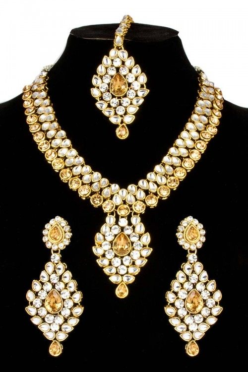 Shop Latest designer Crystal Jewelry online at lowest price