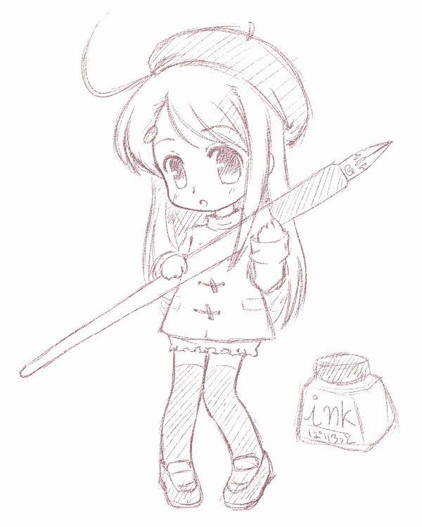Anime chibi drawings pencil 17839code png