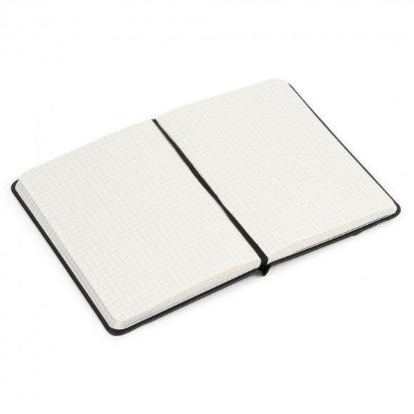 Agenzio Small Black Grid Notebook