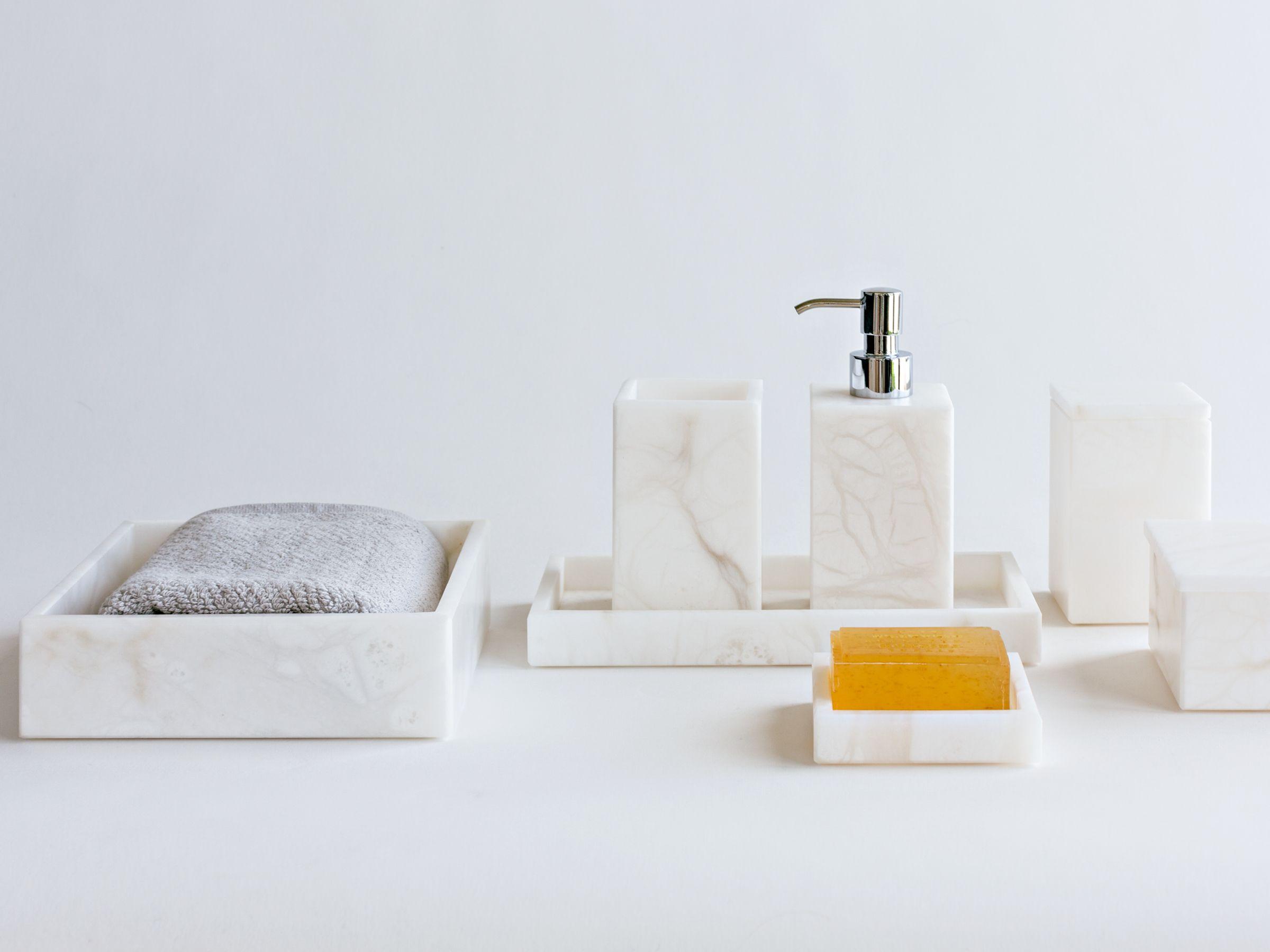 Room alabaster bath accessories collection | Provide _ Bath ...
