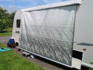 Putting up a roll-out awning - Step 1 | Caravan awnings ...