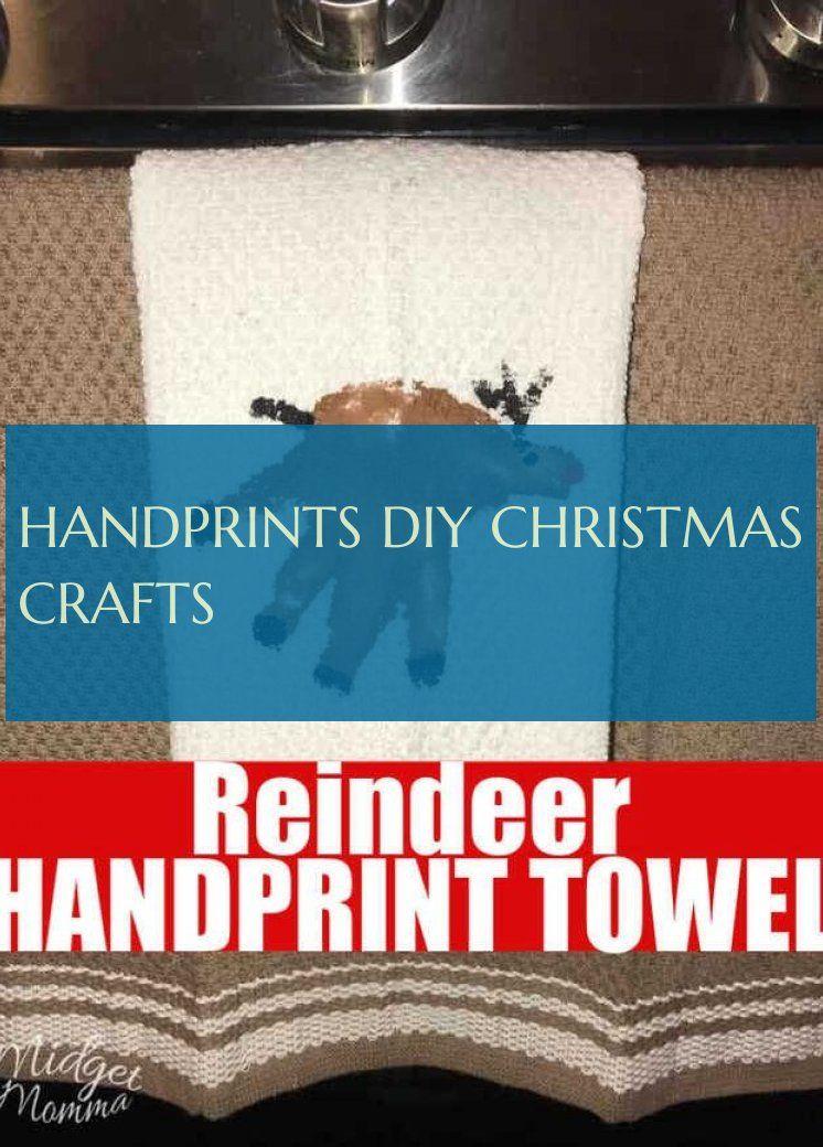 Handprints diy christmas crafts
