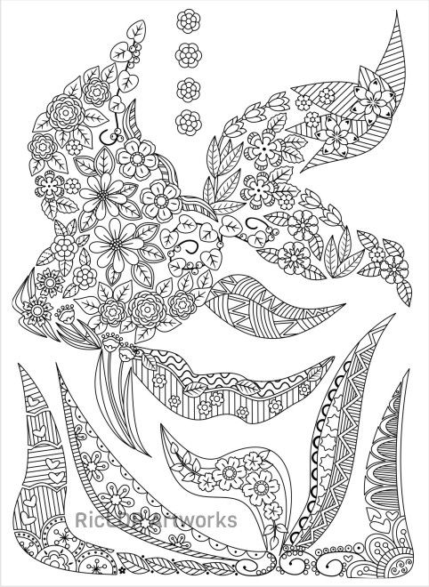 3 Uniquely Shaped Coloring Pages Fish
