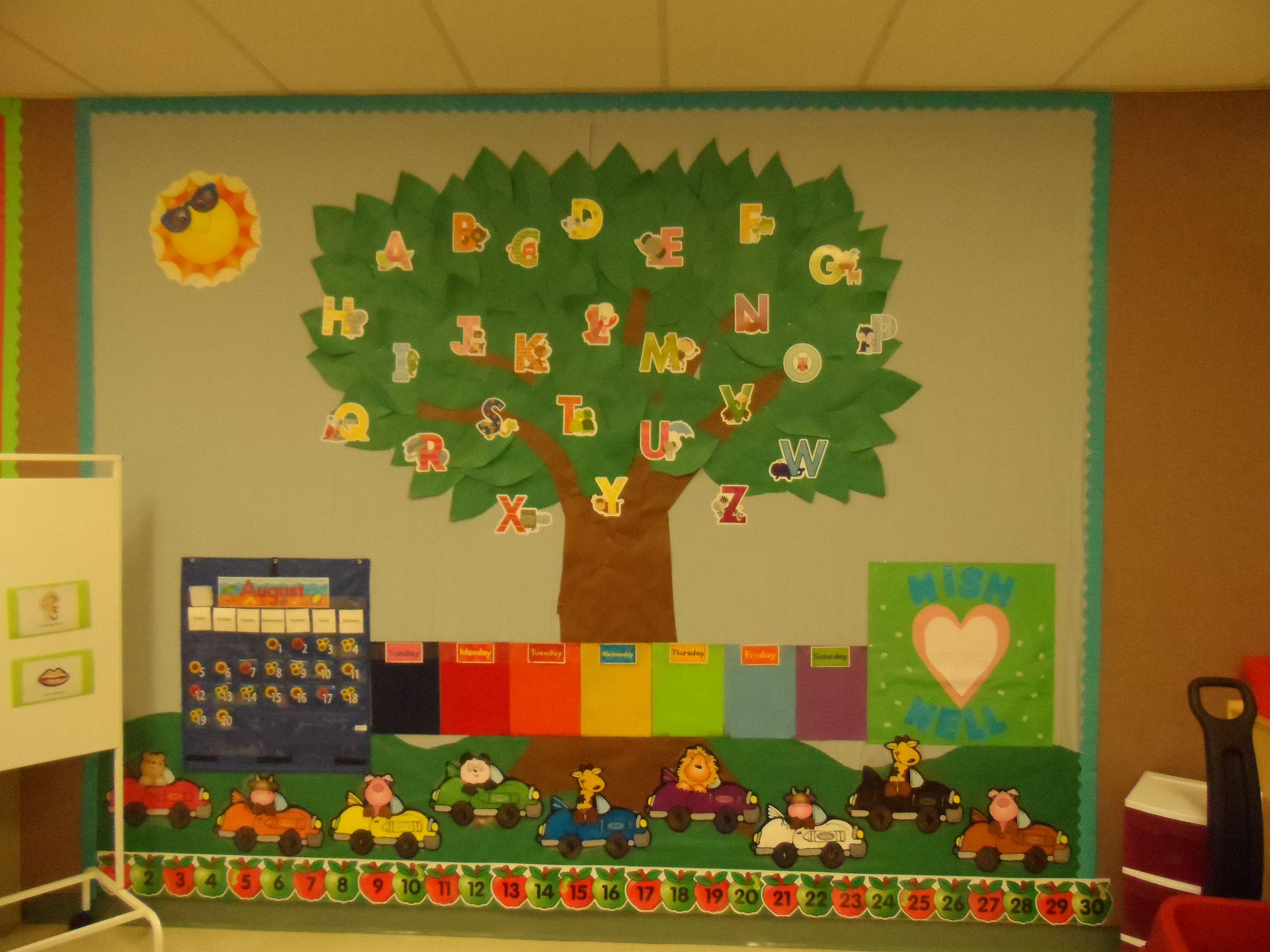 Classroom Calendar Bulletin Board Ideas : Circle time area bulletin board i created includes