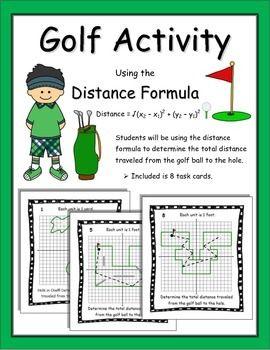 Midpoint Distance Formula Activity Algebra Math Math
