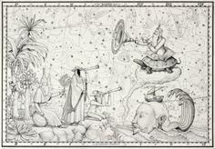Artist duo Interesni Kazki ink drawing