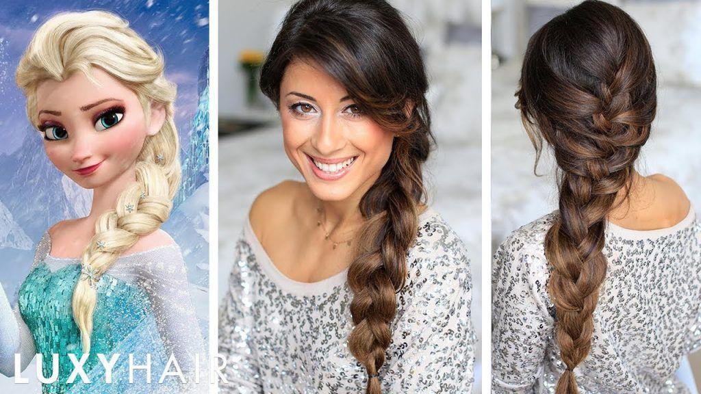 Frozen Elsa S Braid Hair Tutorial Geflochtene Frisuren Haarschnitt Frisur Hochgesteckt