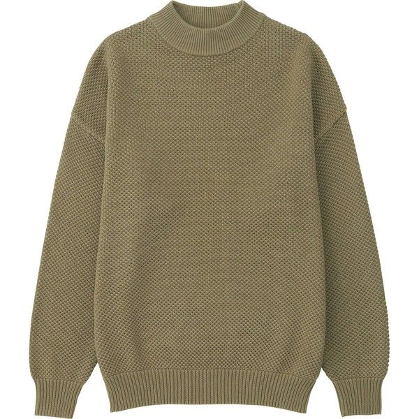 UNIQLO Women Cotton Oversized High Neck Sweater ($20) ❤ liked on ...