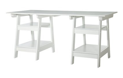 Madison Large Trestle Desk - Antique White at Target - Http://www.target.com/p/Madison-Large-Trestle-Desk---Antique-White