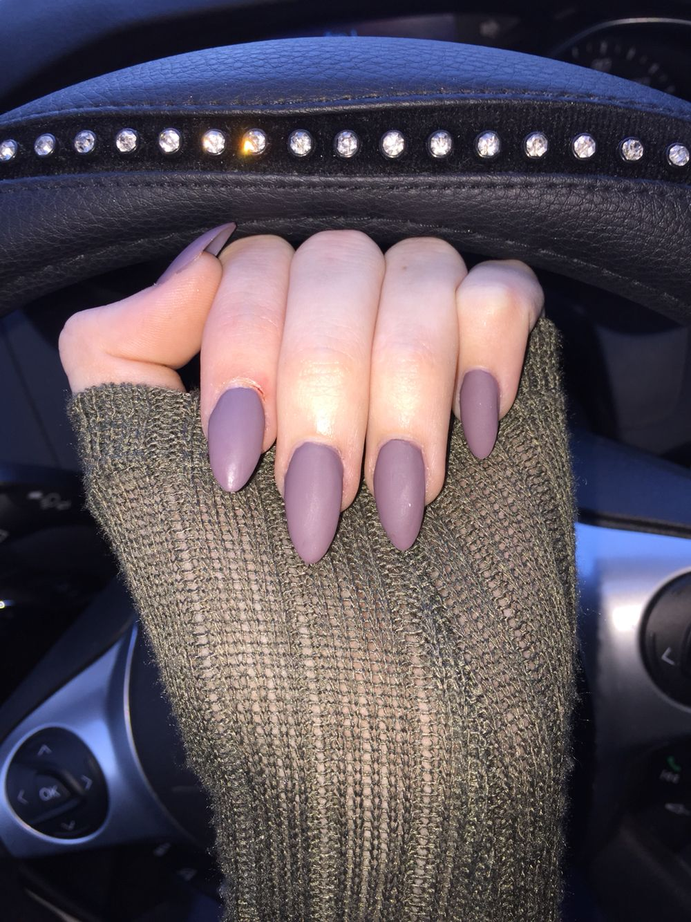 Matte mauve/purple stiletto nails. Perfect for fall! | Nails ...