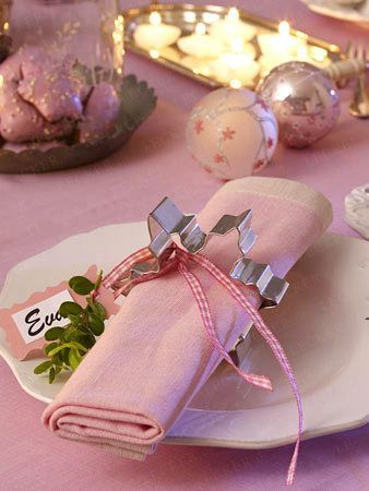 Weihnachtliche Tischdeko - Bastelideen für die Festtafel| LECKER #weihnachtlichetischdekoration
